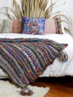 Free People Coco Banana Blanket at Free People Clothing Boutique