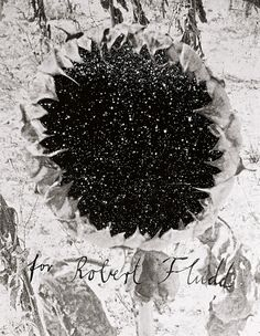 ANSELM KIEFER - For Robert Fludd (1995-1996) [Emulsion, acrylic and sunflower seeds in engraving on photographic composition 103.5 cm x 81 cm x 10.6 cm, 16 double pages]