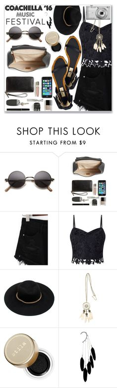 """""""Pack for Coachella'16"""" by oleahg ❤ liked on Polyvore featuring Chloé, Valentino, Lipsy, H&M, Stila, Nikon and packforcoachella"""