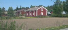 Perinteistä ryhmäkylää Teerijärvellä toukokuussa 2013. Ostrobothnia - province of Western Finland - Pohjanmaa - Österbotten
