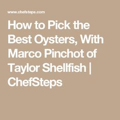 How to Pick the Best Oysters, With Marco Pinchot of Taylor Shellfish | ChefSteps