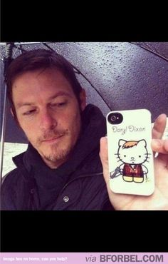 Nothing much, just Daryl Dixon with his Hello Kitty phone cover.