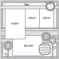 Use our free scrapbook page sketches as inspiration for your next layout Scrapbook Layout Sketches, 12x12 Scrapbook, Scrapbook Templates, Wedding Scrapbook, Scrapbook Designs, Disney Scrapbook, Travel Scrapbook, Scrapbook Paper Crafts, Scrapbooking Layouts