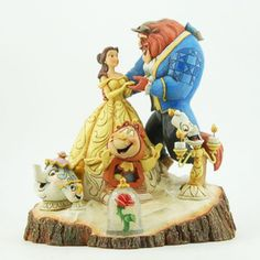 Enesco Disney Traditions Jim Shore Beauty and the Beast Wood Carved Figurine