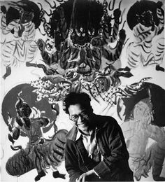 Shiko Munakata, woodcut artist.