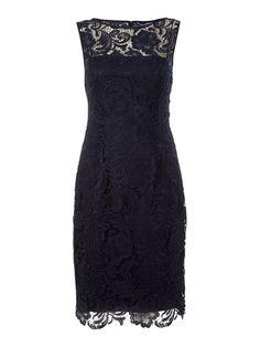 Adrianna Papell Evening Lace shift dress Navy House of Fraser
