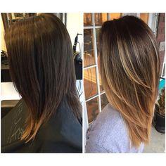 Frisuren Love this color! Haircuts For Medium Hair, Medium Hair Styles, Straight Hairstyles, Long Hair Styles, Medium Layered Hair, Medium Length Hair With Layers Straight, Hair Medium, Hair Highlights, Balayage Hair