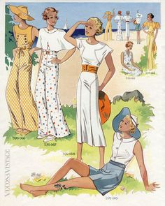 1930S BEACH & LOUNGING PYJAMAS