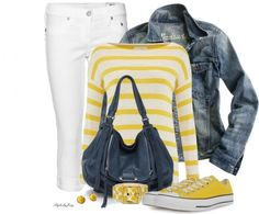 pop of yellow stripes