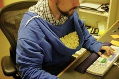 Turn your hoodie into an instant food bowl. | Life-Changing Tip Of The Day: Reverse Your Hoodie