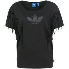 adidas Originals Print Tshirt (77 BRL) ❤ liked on Polyvore featuring tops, t-shirts, black, mixed print top, adidas originals tee, adidas originals t shirt, round neck t shirts and collar t shirt