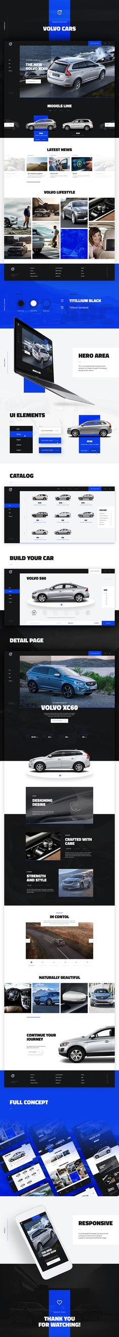 Website redesign concept for Volvo by Atwix.