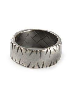 Scratched effect ring (Bottega Veneta)