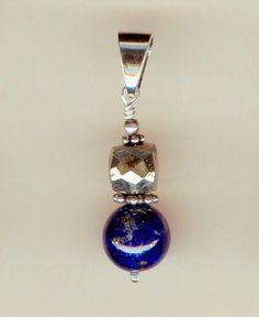 Pendentif Lapis Lazuli, Pyrite et Argent