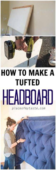 I show you how to make a tufted headboard! This velvet king size headboard is just phenomenal!