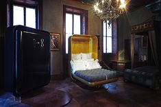 Brillian Hideaway Bed NIKA ZUPANC - Photo Tatiana Uzlova #Milan2016 #ArtfulLiving Roseur.com