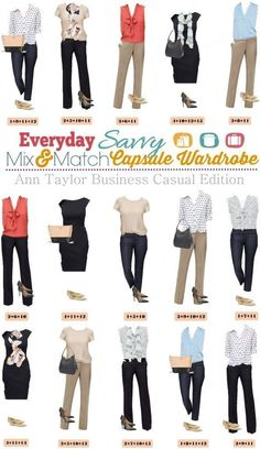 Ann Taylor business casual capsule wardrobe can help you think less about your clothing and more about everything else in your life. #women #business #fashion
