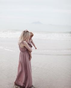 Matching dresses in dusty pink,they're beautiful!