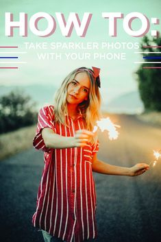 Happy Fourth of July!  The day consists of BBQ'S, celebrating with family and outdoor fun. Followed by fireworks once the sun goes down, but then how can you document your amazing red, white, and blue outfit you spent the last month perfecting?  Here's how: sparkler photos! Most of us don't carry around a clunky camera, so here is how you can achieve that professional grade sparkler photo with the ease and accessibility of your trusty ol' phone.  Things needed:   Friends (the ...