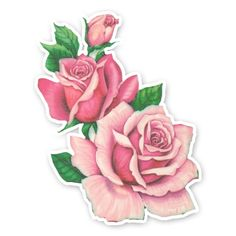 Vintage Diecut - Rose Trio
