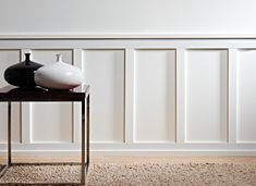 Browse a great selection of wainscoting mouldings and wall paneling from House Martin Online, a leading supplier of decorative mouldings. Faux Panel Wall, Faux Panels, Stair Paneling, Wooden Panelling, Wall Panelling, Dining Room Wainscoting, Dining Room Walls, Style Shaker, Living Room Panelling