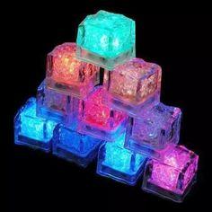 cubo gelo neon luminoso 10 unidades