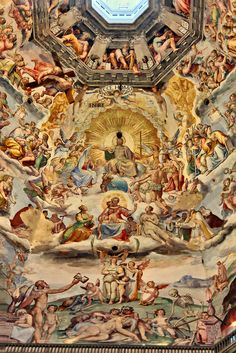 Interior Ceiling of the Duomo Dome, Florence, Italy