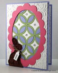 Stampin' Up!  Lattice  Julie Freysinger  Easter Egg