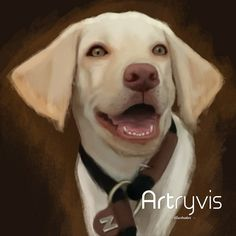 Mozzie #pet #dog #digitalpainting #watercolor #commission #labrador #artryvis