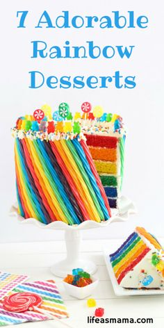 Fun, colorful, and ridiculously cool to create, rainbow desserts look great on any dessert table, are a hit at kid's Birthday parties, and succeed in making any weeknight dessert just a little bit more fun.