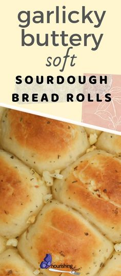 These garlicky sourdough bread rolls are sure to please! What could be better at your next gathering than these garlic sourdough dinner rolls? I don't think anything can beat these buttery soft bread rolls! Soft Sourdough Bread, Sourdough Dinner Rolls, Sourdough Starter Discard Recipe, Sourdough Recipes, Dinner Rolls Recipe, Soft Rolls Recipe, Dinner Bread, Yeast Bread, Garlic Rolls