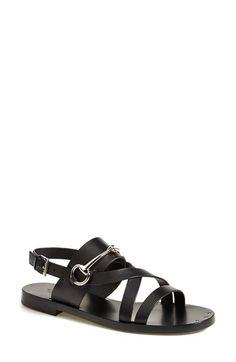Gucci 'Juliette' Flat Bit Sandal (Women) available at #Nordstrom