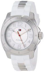 Tommy Hilfiger Women's 1781306 Stainless Steel Watch with White Silicone Strap