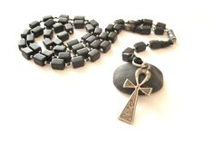 Unisex Rosary style necklace handbeaded of by MyParadeAtelie, $20.00
