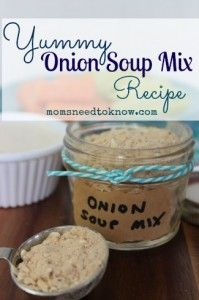If you use powdered soup mixes in your recipes, you are going to want to try this Copycat Lipton Onion Soup Mix Recipe! It's a great way to continue having the flavor you love, without any added chem(Ingredients In A Jar Soup Mixes) Homemade Onion Soup Mix, Homemade Dry Mixes, Homemade Spices, Homemade Seasonings, Recipe Mix, Recipe For Mom, Soup Mixes, Spice Mixes, Spice Blends