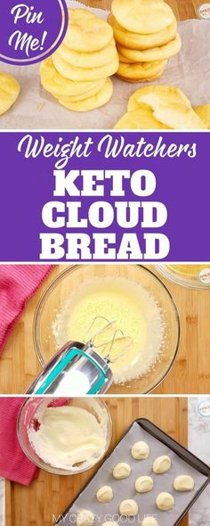 This Keto Cloud Bread with Greek Yogurt is a delicious substitute for bread! It's only 7 smart points per batch so it's great for Weight Watchers too!