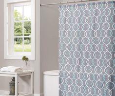 "Gray Spring Lattice Shower Curtain, (72"")  at Big Lots. $10"