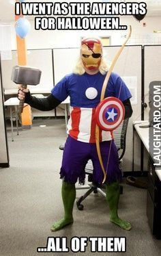 I went as the avenger