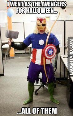 I went as the avenger