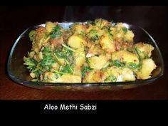 Aloo Methi Sabzi Recipe Hindi - Simple and Quick Aloo Methi Sabzi - Fenu...