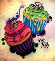 Cupcake Tattoo Design