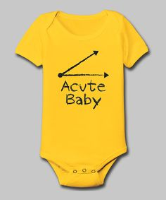Yellow 'Acute Baby' Bodysuit - Infant | Daily deals for moms, babies and kids
