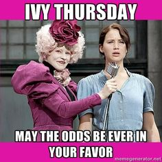 omg this would've been perfect for MY ivy thursday! (good thing the odds were in my favor..)