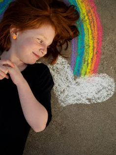 I don't know what's more fun: the photo op with chalk, or this little girl's incredible red hair. Chalk Photography, Children Photography, Photography Poses, Chalk Pictures, Kind Photo, Photo Tips, Photo Ideas, Picture Ideas, Rainbow Photo