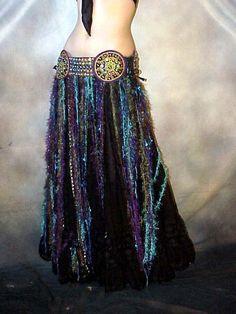 peacock bellydance belt | we3 belly dance tribal gypsy peacock cabochon belt l 3x ebay