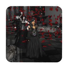 Gothic Ball Room Coasters  Fun coaster for Halloween.  http://www.zazzle.com/gothic_ball_room_coasters-163129582523514513?rf=238271513374472230  #halloween  #halloweendecoration  #coaster
