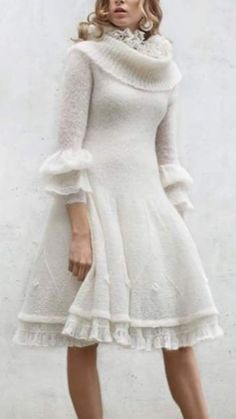 Light and airy knitted dress