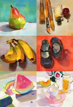 Gouache Tutorial, Art Reference, Painting, Painting Art, Paintings, Painted Canvas, Drawings
