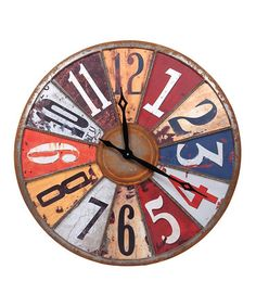 Loving this Multicolor Clock on #zulily! #zulilyfinds