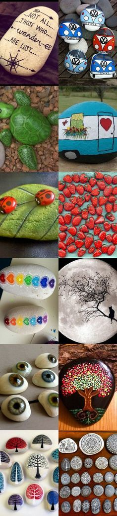 How To Make DIY Painted Rocks - 30 Tutorials and Inspirational Diagrams